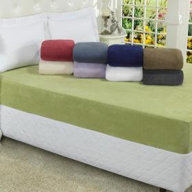 Len�ol Plush Casal com el�stico Avulso - Conforto - Dui Design
