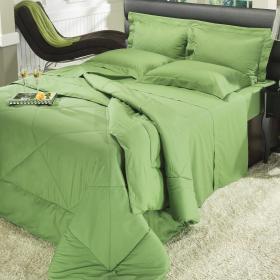 Jogo de Cama King Percal 200 fios - Everyday Verde Mineral - Dui Design