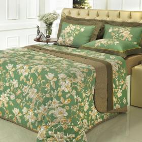 Kit: 1 Cobre-leito Solteiro + 1 Porta-travesseiro 150 fios - Shadow Herbal - Dui Design